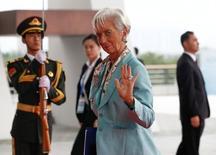 La directora gerente del Fondo Monetario Internacional (FMI), Christine Lagarde, durante la cumbre del G-20, en Hangzhou, China. 4 de septiembre de 2016. La directora gerente del Fondo Monetario Internacional (FMI), Christine Lagarde, dijo el lunes que los líderes de las naciones del G-20 coincidieron en que las economías necesitan anotar un crecimiento más acelerado, y que éste debe ser más incluyente. REUTERS/Rolex dela Pena/Pool