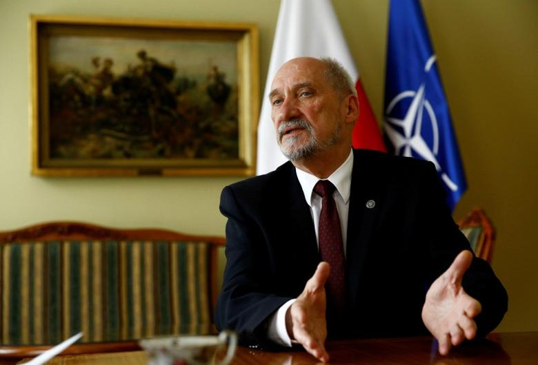 Polish Defence Minister Antoni Macierewicz speaks with Reuters during an interview in Warsaw, Poland July 4, 2016. REUTERS/Kacper Pempel