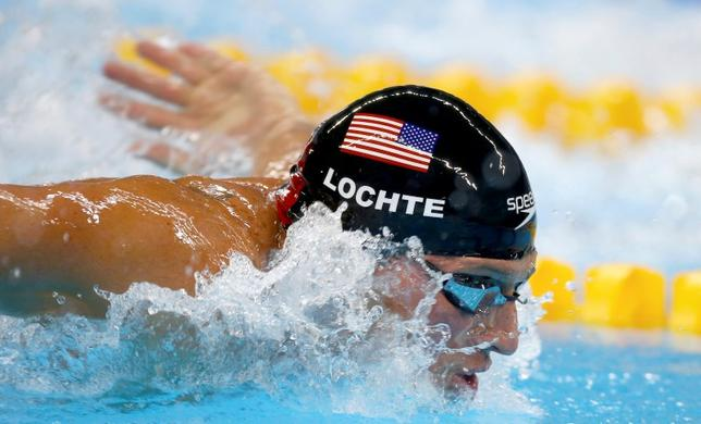 2016 Rio Olympics - Swimming - Semifinal - Men's 200m Individual Medley Semifinals - Olympic Aquatics Stadium - Rio de Janeiro, Brazil - 10/08/2016. Ryan Lochte (USA) of USA competes REUTERS/Michael Dalder/File Photo