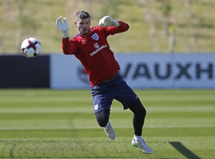 Britain Football Soccer - England Training - St. George's Park - 30/8/16England's Fraser Forster during trainingAction Images via Reuters / Carl RecineLivepic/Files