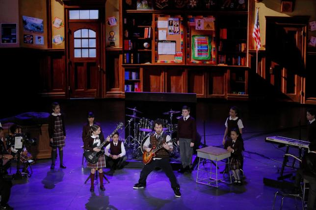 The cast of School of Rock performs during the American Theatre Wing's 70th annual Tony Awards in New York, U.S., June 12, 2016. REUTERS/Lucas Jackson/File Photo