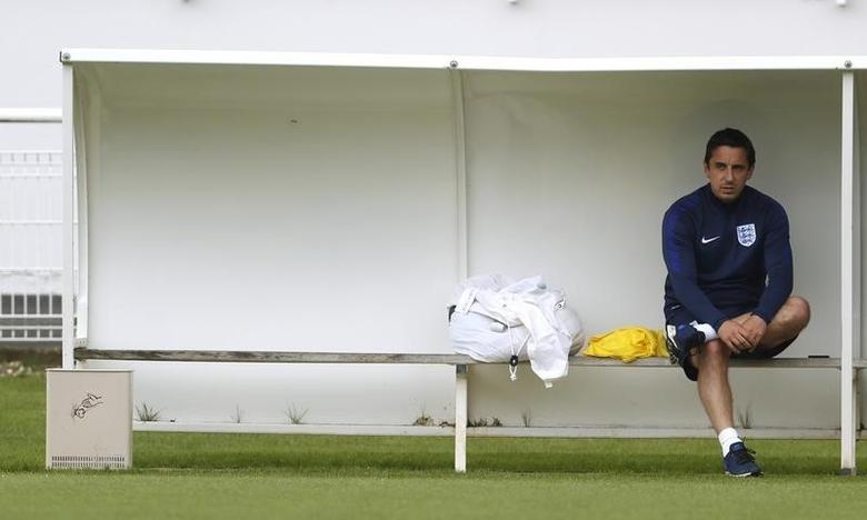 Football Soccer - Euro 2016 - England Training - Stade des Bourgognes, Chantilly, France - 26/6/2016 England's assistant coach Gary Neville during training REUTERS/Lee Smith