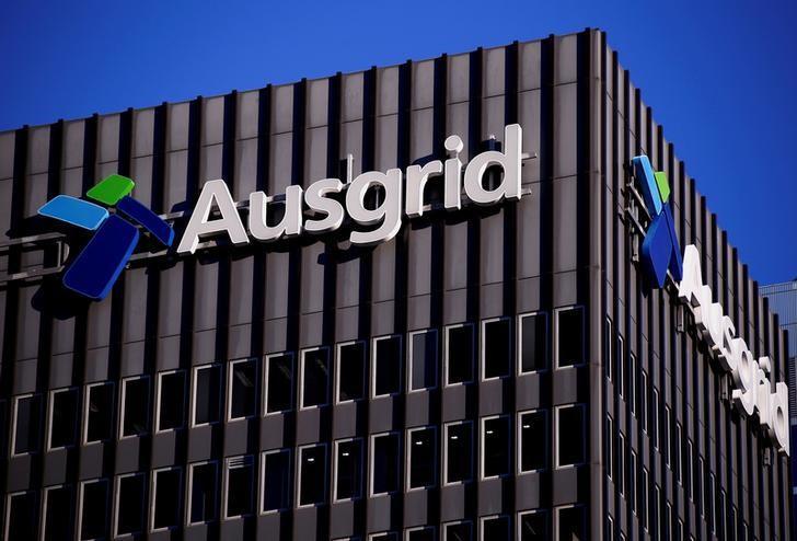 2016年7月25日,澳洲最大电网公司Ausgrid的logo。REUTERS/David Gray