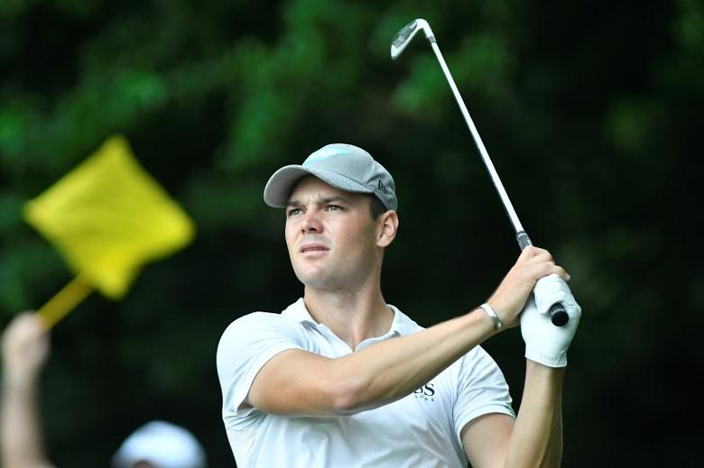 Jul 31, 2016; Springfield, NJ, USA; Martin Kaymer watches his tee shot on the second hole during the Sunday round of the 2016 PGA Championship golf tournament at Baltusrol GC - Lower Course. Mandatory Credit: Eric Sucar-USA TODAY Sports