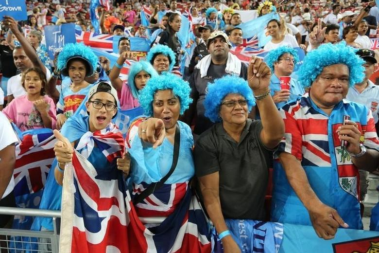 Rugby Union - HSBC Singapore Sevens - HSBC Sevens World Series - National Stadium, Singapore - 17/4/16Fiji fans during the Cup FinalAction Images via Reuters / Jeremy LeeLivepic