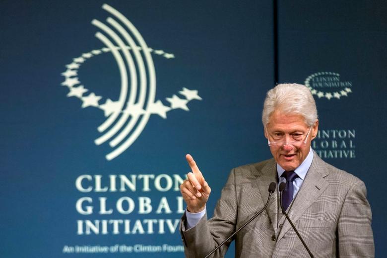 Former U.S. President Bill Clinton speaks during the Clinton Global Initiative's 2015 Winter Meeting in New York February 10, 2015. REUTERS/Brendan McDermid/File Photo