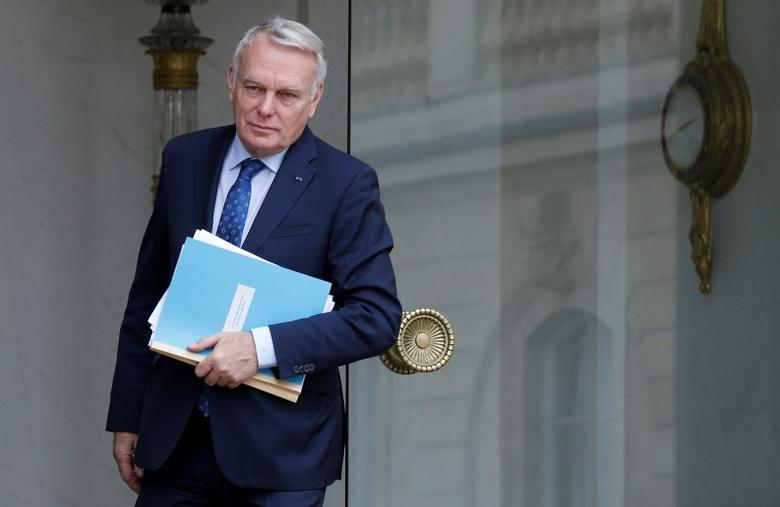 French Foreign Minister Jean-Marc Ayrault leaves the weekly cabinet meeting at the Elysee Palace in Paris, France, June 15, 2016. REUTERS/Jacky Naegelen