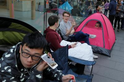 Camping out for an iPhone