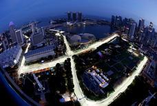 Circuito de Marina Bay da Fórmula 1 em Cingapura. 15/9/2016. REUTERS/Edgar Su