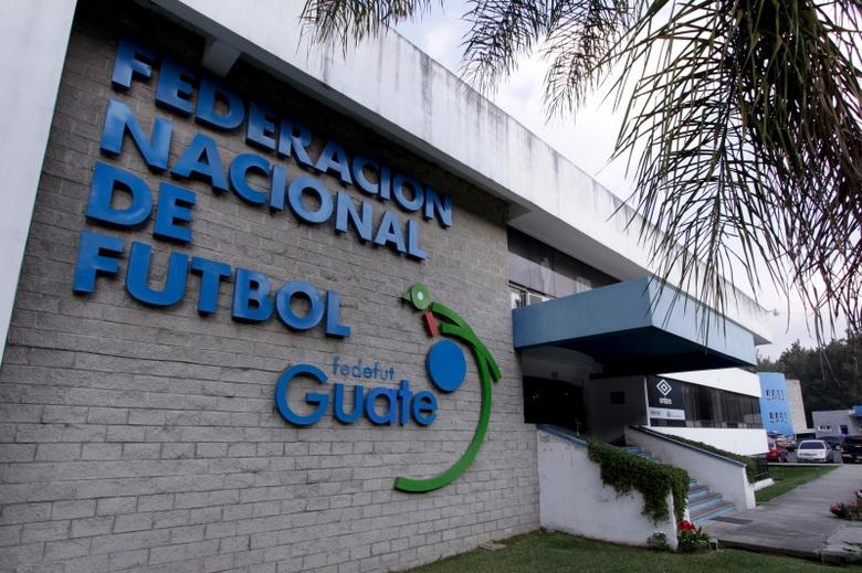 The facade of the Guatemala's soccer federation (Fedefut) building is pictured in Guatemala City, February 23, 2016.       To match Insight SOCCER-FIFA/PROBE-GUATEMALA      REUTERS/Josue Decavele