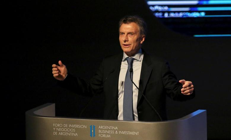 Argentina's President Mauricio Macri speaks during the official opening session of the Argentina Business and Investment Forum 2016 in Buenos Aires, Argentina September 13, 2016. REUTERS/Marcos Brindicci