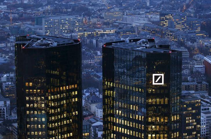 图为位于德国法兰克福的德意志银行总部。REUTERS/Kai Pfaffenbach