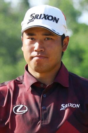 男子ゴルフ、松山変わらず18位