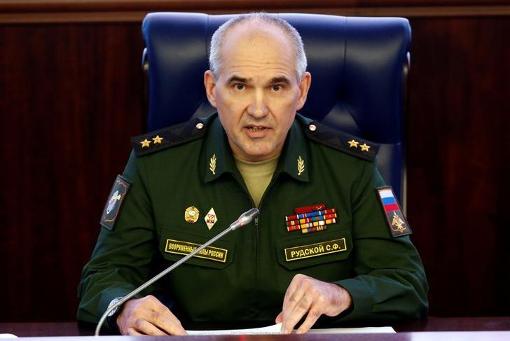 Chief of the Main Operational Directorate of the General Staff of the Russian Armed Forces Lieutenant-General Sergei Rudskoi attends a news briefing in Moscow, Russia, September 19, 2016. REUTERS/Sergei Karpukhin