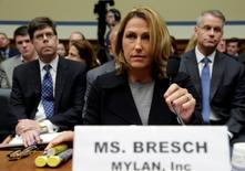 Mylan NL CEO Heather Bresch waits to testify before a House Oversight and Government Reform Committee hearing on Rising Price of EpiPens at the Capitol in Washington, U.S. September 21, 2016. REUTERS/Yuri Gripas