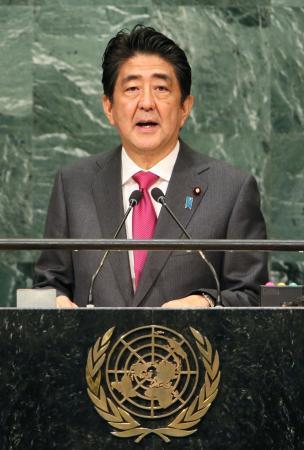 首相、対北朝鮮で世界結束訴え