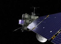 Representación artística sin fechar de Rosetta. La histórica misión Rosetta lanzada por científicos europeos terminará a fines de este mes con el aterrizaje de la nave en la superficie helada de un cometa, luego de 12 años de seguimiento al cuerpo celeste a lo largo de más de 6.000 millones de kilómetros en el espacio. REUTERS/ESA/NASA/Handout
