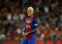 Neymar durante partida do Barcelona pela Liga Espanhola.   10/09/16 REUTERS/Albert Gea