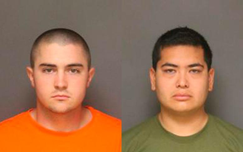 Joshua Acosta, 21, and Frank Felix, 25 (R).    REUTERS/Fullerton Police