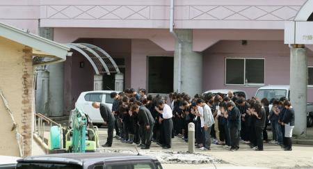 岩手・岩泉で台風犠牲者を追悼