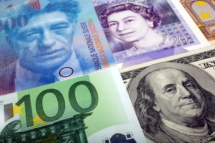 A picture illustration of  U.S. dollar, Swiss Franc, British pound and Euro bank notes January 26, 2011. REUTERS/Kacper Pempel/Illustration/File Photo