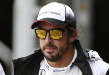 McLaren's Fernando Alonso after qualifying. Reuters / Andrew Boyers Livepic