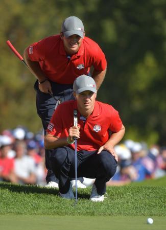 男子ゴルフ、米国5―3とリード