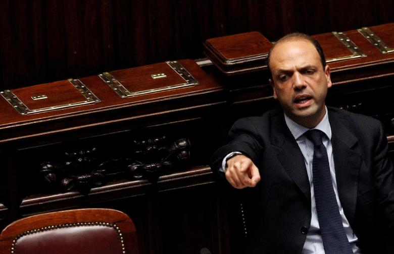Angelino Alfano, Italy's former Minister of Justice reacts during a debate in the upper house of Parliament in Rome March 31, 2011. REUTERS/Alessandro Bianchi/File Photo