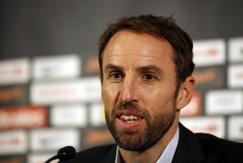 Britain Football Soccer - England - Gareth Southgate Press Conference - St. George's Park, Burton upon Trent - 3/10/16Gareth Southgate during the press conferenceAction Images via Reuters / Carl RecineLivepic