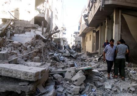 米、シリア対ロ協議を中断