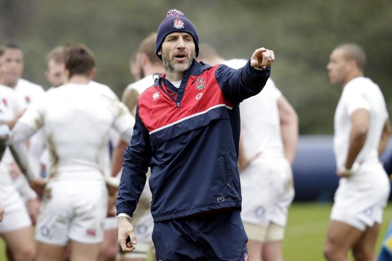 Rugby Union - England Training - Pennyhill Park Hotel, Bagshot, Surrey - 10/3/16England's defence coach Paul Gustard during trainingAction Images via Reuters / Henry Browne
