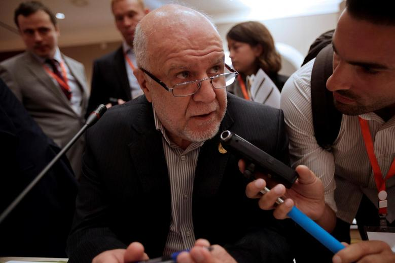 Iranian Oil Minister Bijan Zanganeh talks to reporters during the 15th International Energy Forum Ministerial (IEF15) in Algiers, Algeria  September 27, 2016. REUTERS/Ramzi Boudina