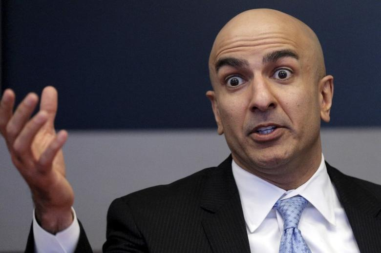 Minneapolis Fed President Neel Kashkari speaks during an interview at Reuters in New York February 17, 2016. REUTERS/Brendan McDermid  - RTX27EXC