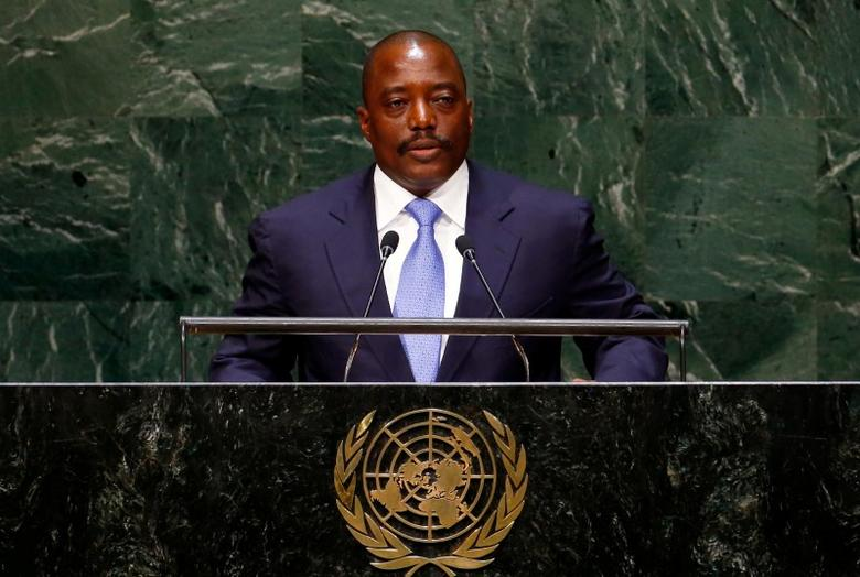 Joseph Kabila Kabange, President of the Democratic Republic of the Congo, addresses the 69th United Nations General Assembly at the U.N. headquarters in New York September 25, 2014. REUTERS/Lucas Jackson/File Photo