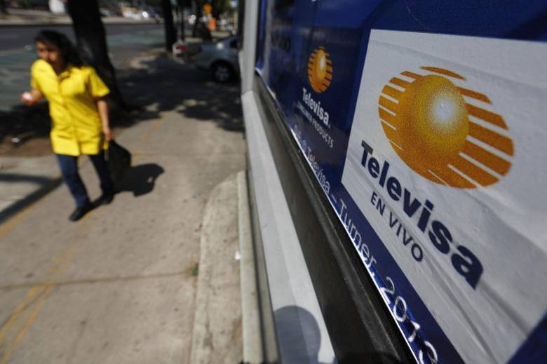 The logo of broadcaster Televisa is seen at a billboard in Mexico City April 29, 2014. REUTERS/Tomas Bravo