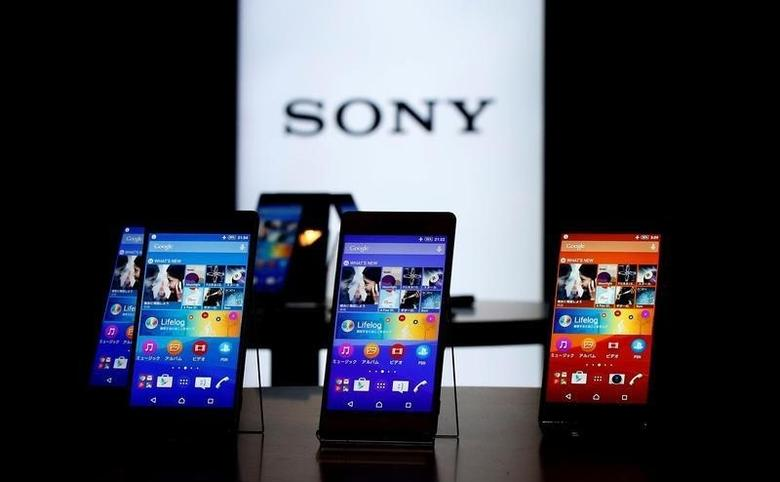 Sony's new Xperia Z4 smartphones are displayed at the company headquarters in Tokyo April 20, 2015. REUTERS/Toru Hanai/Files