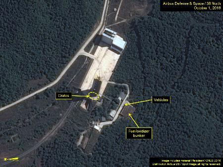 北朝鮮、発射台周辺で動き活発