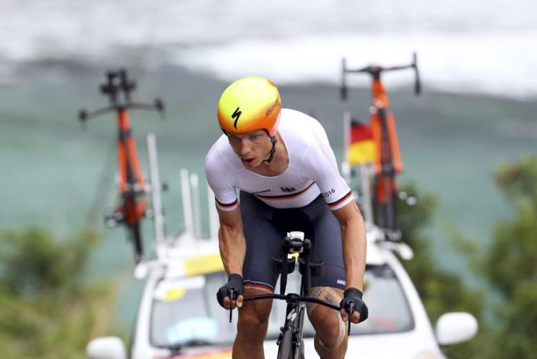 2016 Rio Olympics - Cycling Road - Final - Men's Individual Time Trial - Pontal - Rio de Janeiro, Brazil - 10/08/2016. Tony Martin (GER) of Germany competes. REUTERS/Paul Hanna