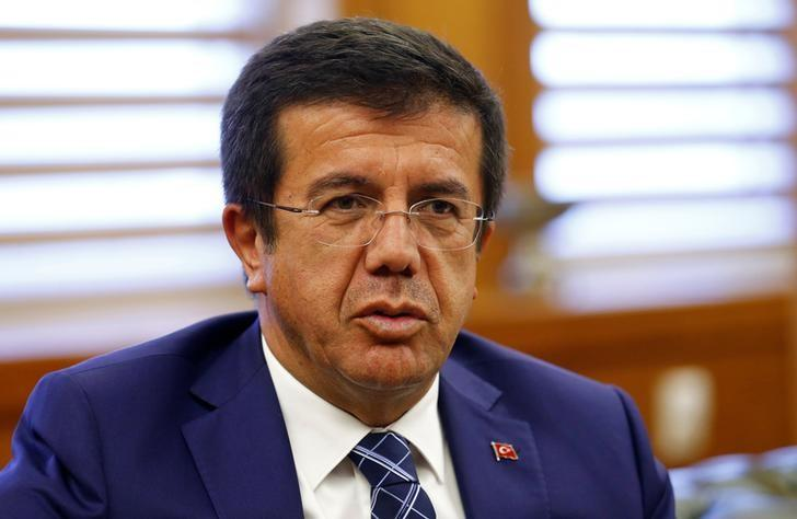 Turkey's Economy Minister Nihat Zeybekci speaks during an interview with Reuters in Ankara, Turkey, June 7, 2016. REUTERS/Umit Bektas