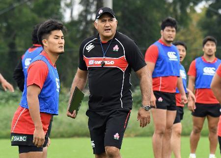 ラグビー日本代表が初練習