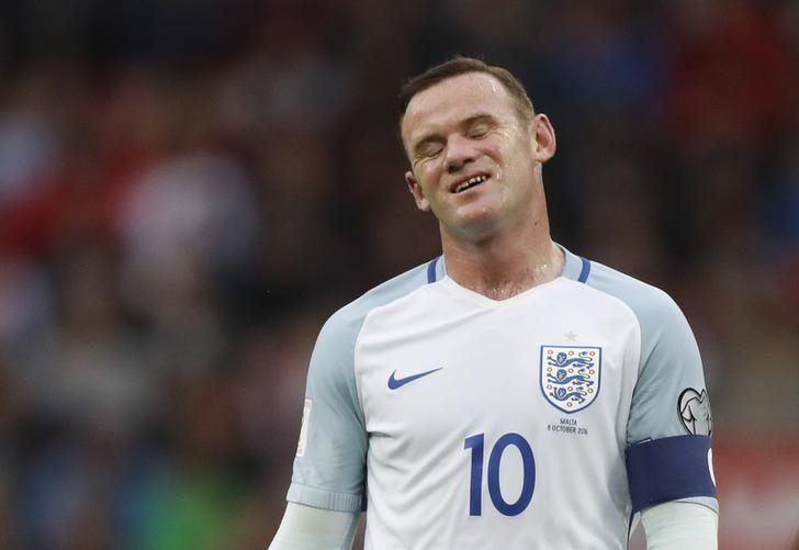 Football Soccer Britain - England v Malta - 2018 World Cup Qualifying European Zone - Group F - Wembley Stadium, London, England - 8/10/16England's Wayne Rooney looks dejectedAction Images via Reuters / Carl RecineLivepicEDITORIAL USE ONLY.