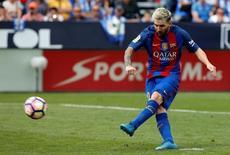 Messi em jogo do Barcelona contra o Leganes. 17/09/16.  REUTERS/Sergio Perez