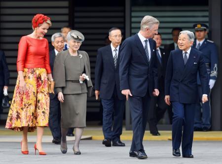 両陛下、ベルギー国王夫妻を歓迎