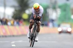 Tony Martin (GER) of Germany competes in 2016 Rio Olympics. REUTERS/Matthew Childs
