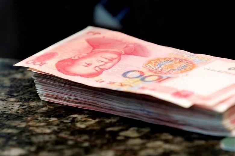 2016年3月30日,人民币纸币。REUTERS/Kim Kyung-Hoon