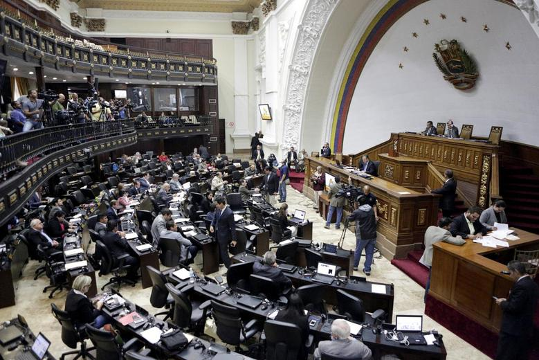 A general view of Venezuela's National Assembly during a session in Caracas, Venezuela, April 20, 2016. REUTERS/Marco Bello/File Photo
