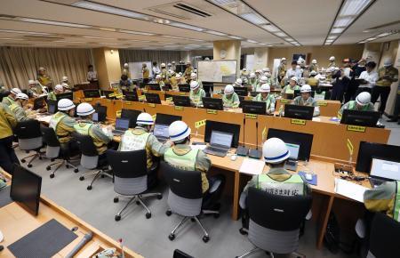 中部電、浜岡原発で巨大地震訓練