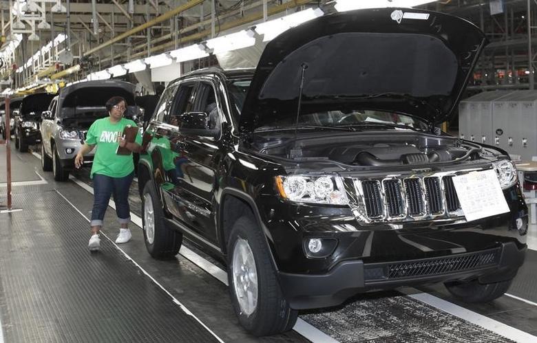2010年5月21日,美国克莱斯勒在底特律的一条大切诺基生产线。REUTERS/Rebecca Cook