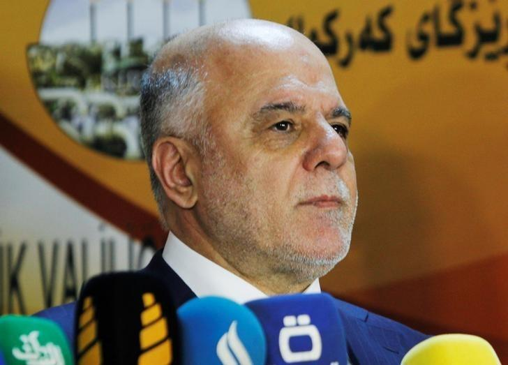 Iraqi Prime Minister Haider al-Abadi attends a news conference in Kirkuk, Iraq, October 14, 2016. REUTERS/Ako Rasheed/Files