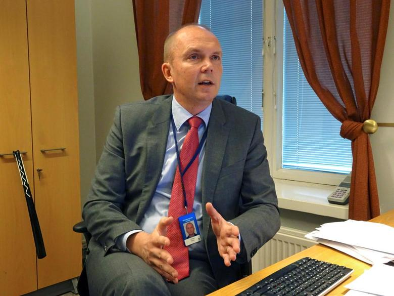 Head of the Finnish government's communication department Markku Mantila speaks at his office in Helsinki, Finland, October 13, 2016. REUTERS/Tuomas Forsell